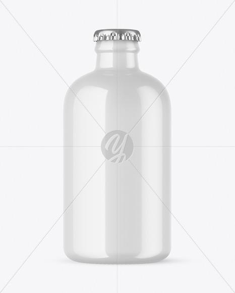 Glossy Beer Bottle Mockup