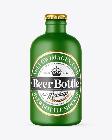 Matte Beer Bottle Mockup