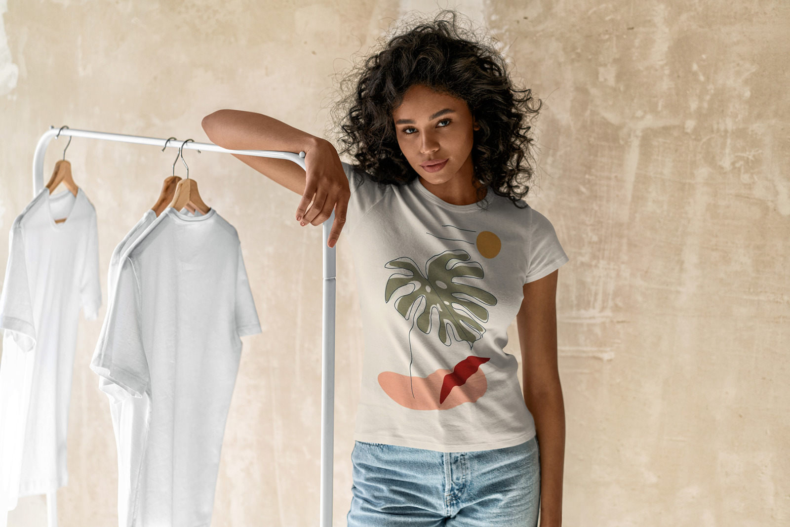 T-Shirt Mock-Up Mokka Colors
