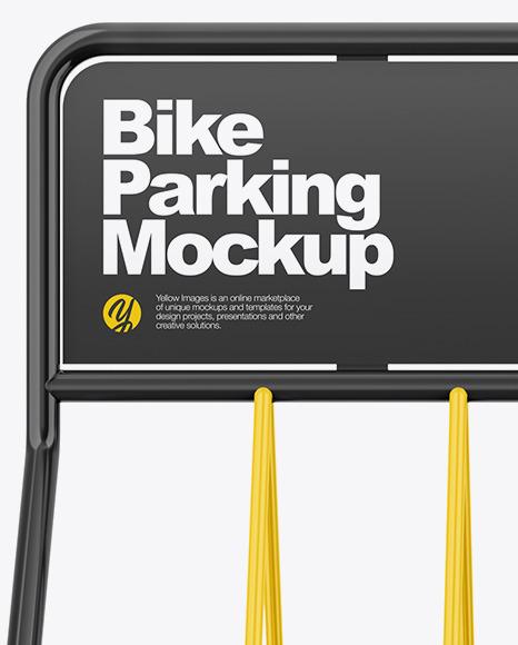 Glossy Bike Parking Mockup