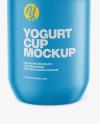Yogurt Cup Mockup - Front view (High-Angle)