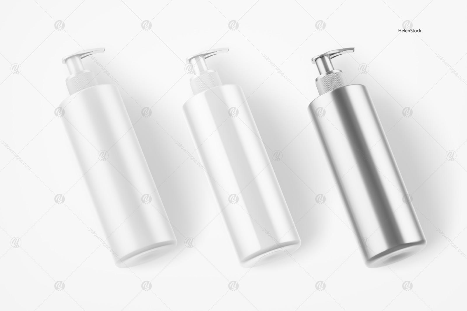 Soap Bottle Mockup - Halfside View