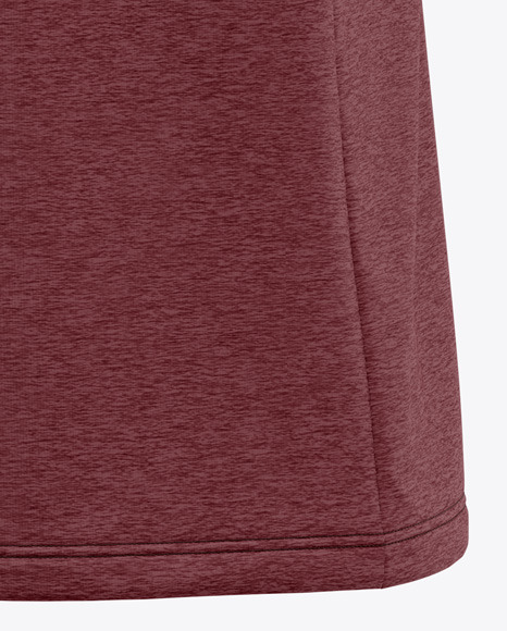 Men's Heather V-Neck T-Shirt Mockup - Back Half Side View