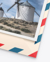 Matte Envelope w/ Postcard Mockup