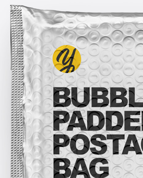 Metallic Postage Bag Mockup