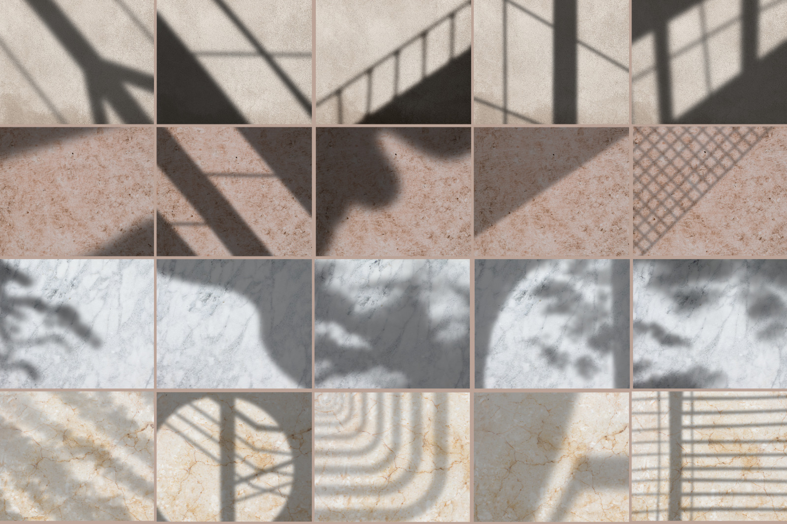 Abstract Shadow Overlay Stamps for Procreate