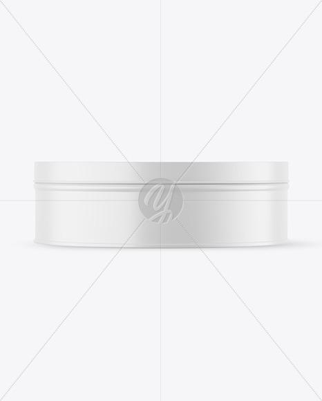Matte Round Tin Box Mockup