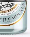 Blue Glass Tonnic Water Bottle Mockup
