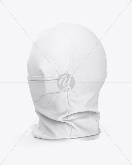 Tactical Balaclava Mockup - Back Half Side View