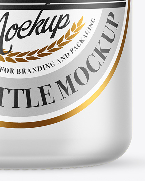 Frosted Glass Tonic Water Bottle Mockup