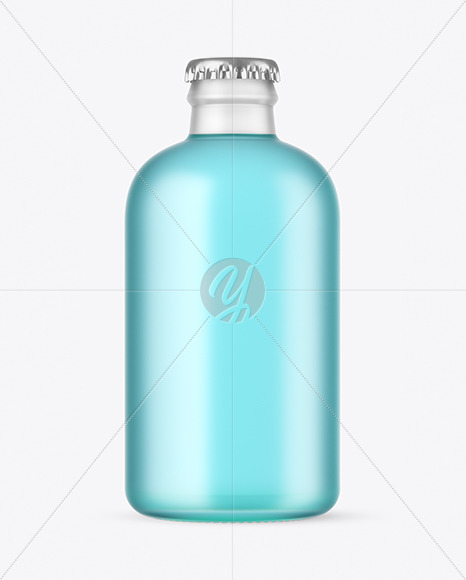 Frosted Glass Drink Bottle Mockup