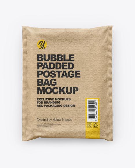 Kraft Paper Postage Bag Mockup