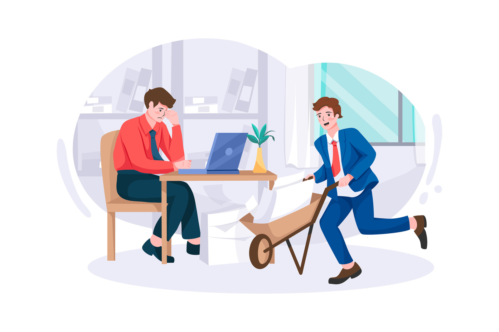 M196_Business Office Illustrations