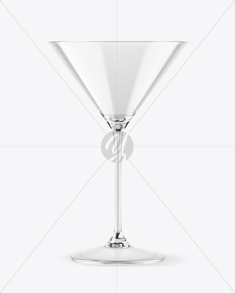 Empty Martini Glass Mockup