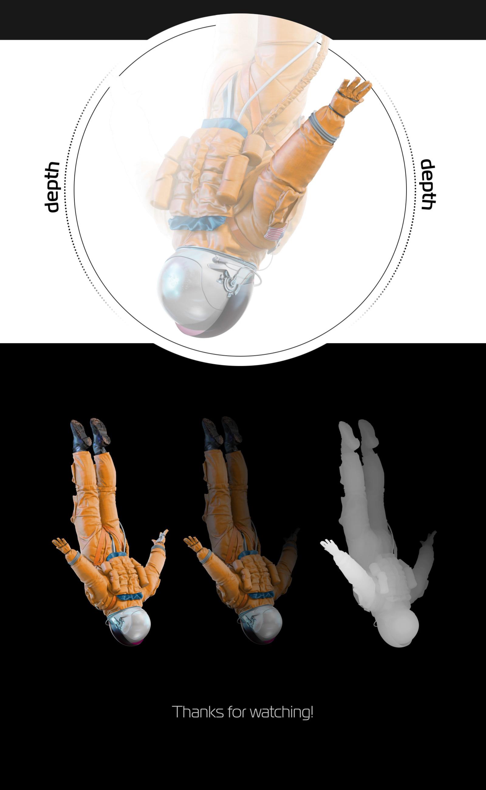 PSD Mockup 3D model NASA Astronaut #20