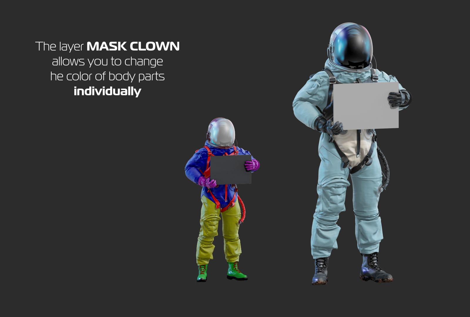 PSD Mockup 3D model NASA Astronaut #27