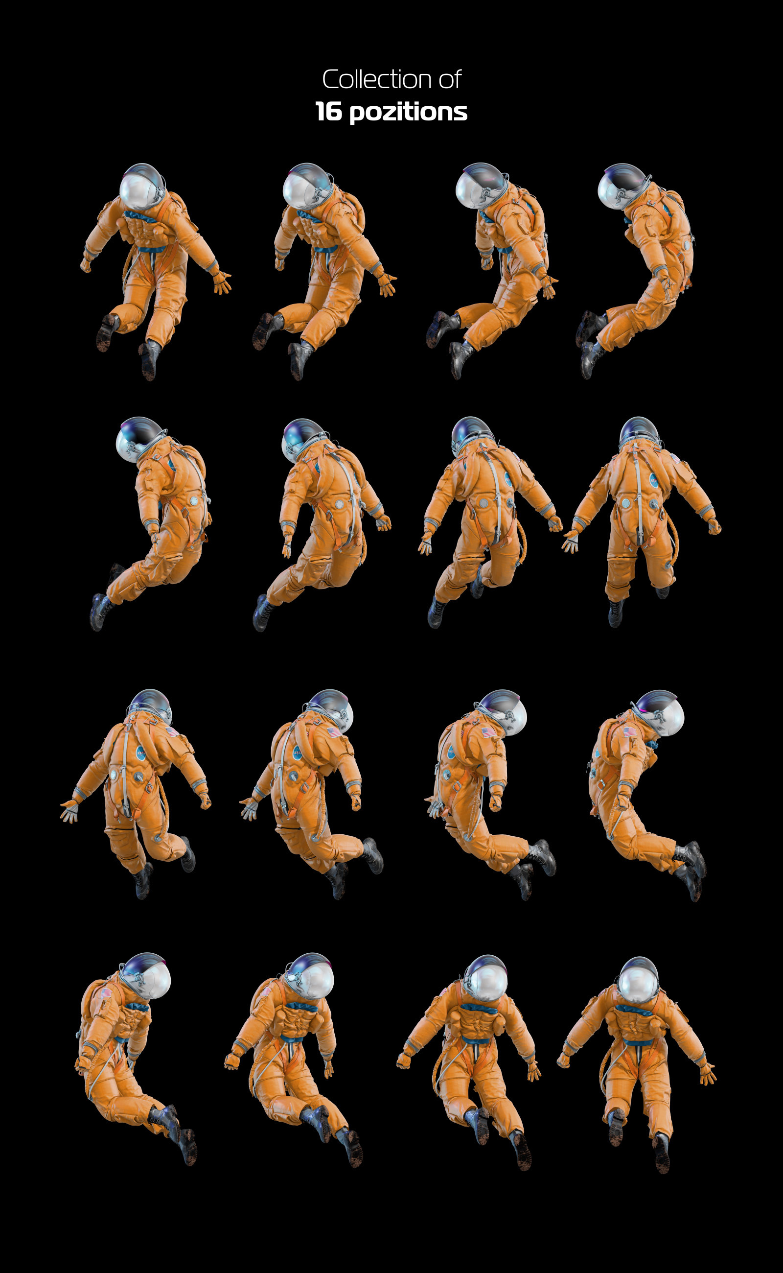 PSD Mockup 3D model NASA Astronaut #28