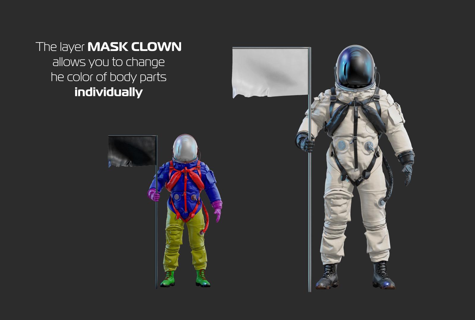 PSD Mockup 3D model NASA Astronaut #29