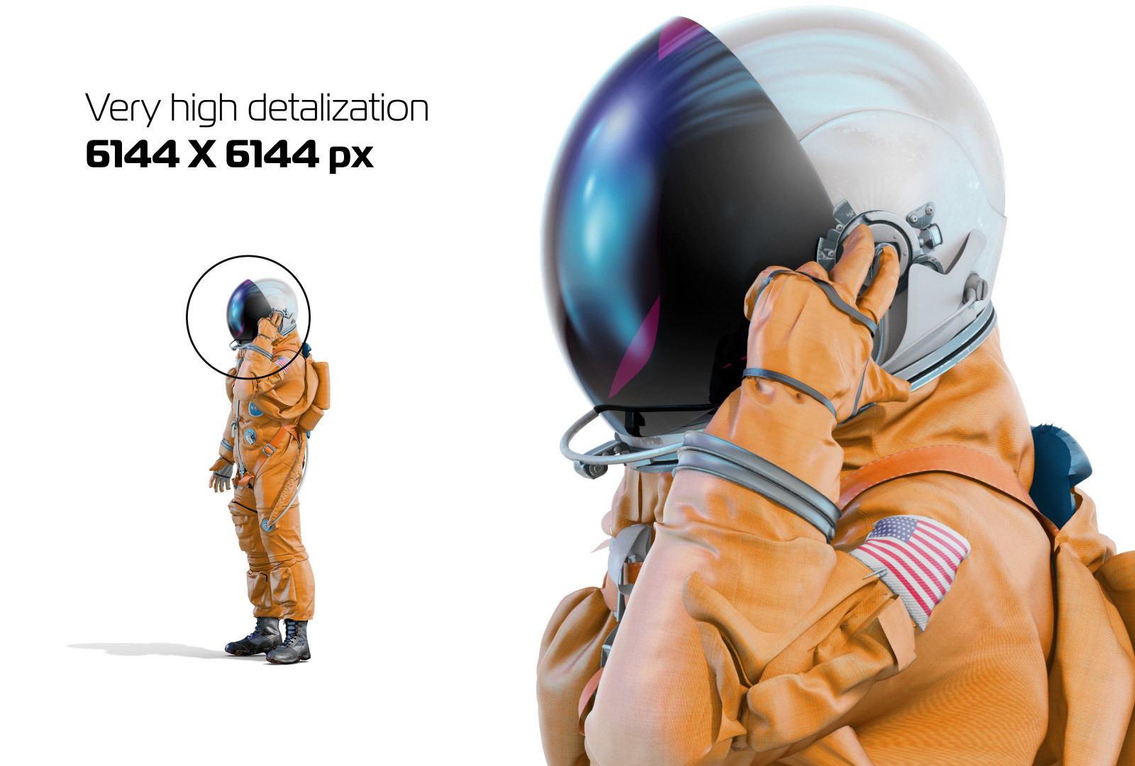 PSD Mockup 3D model NASA Astronaut #30