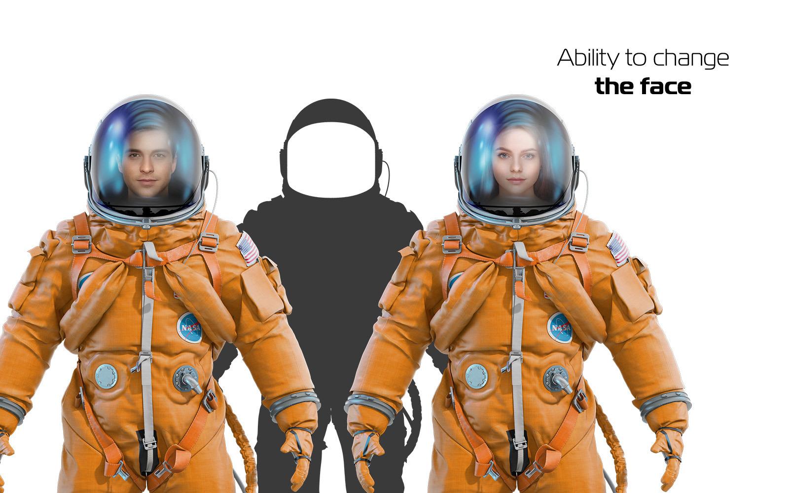 PSD Mockup 3D model NASA Astronaut #31