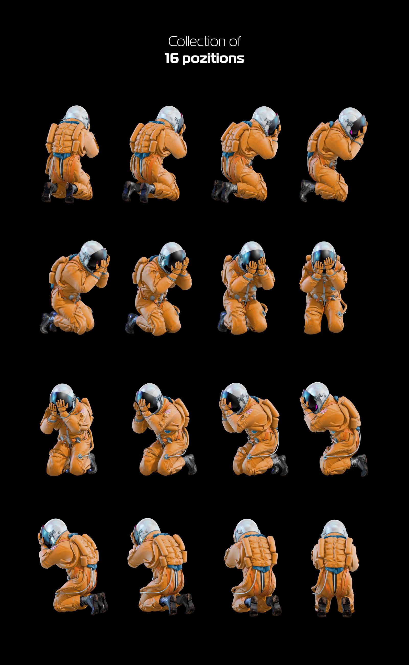 PSD Mockup 3D model NASA Astronaut #33