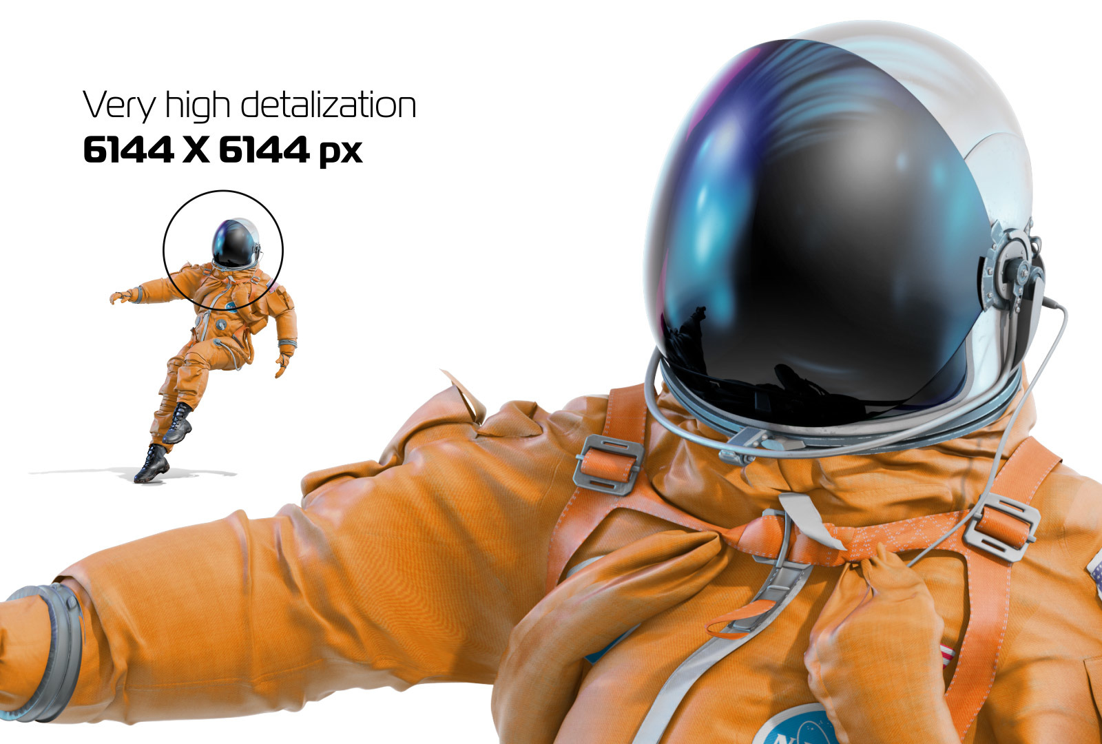 PSD Mockup 3D model NASA Astronaut #36