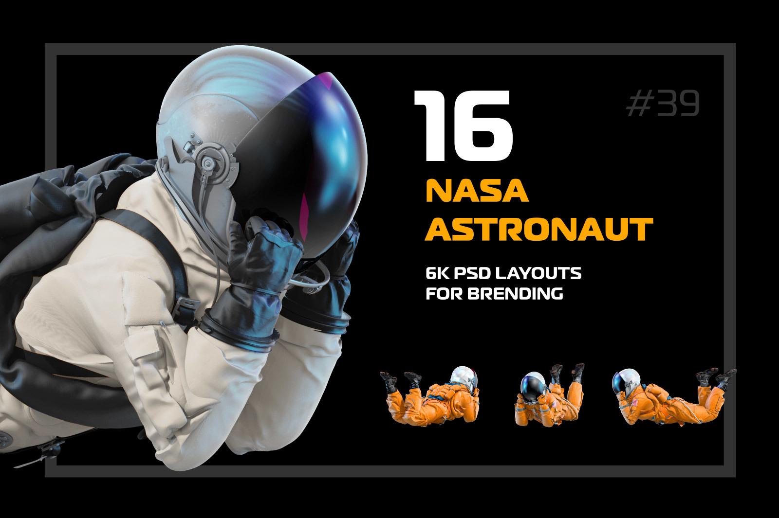 PSD Mockup 3D model NASA Astronaut #39