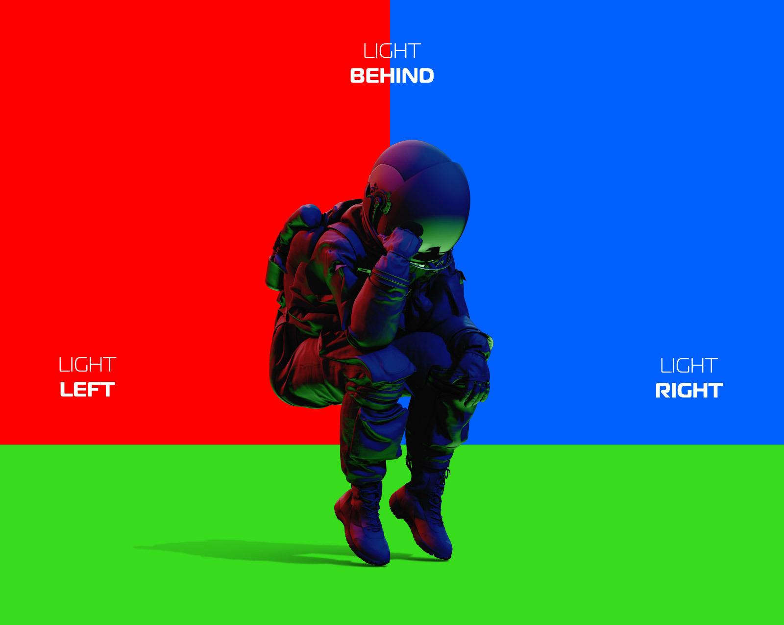 PSD Mockup 3D model NASA Astronaut #37