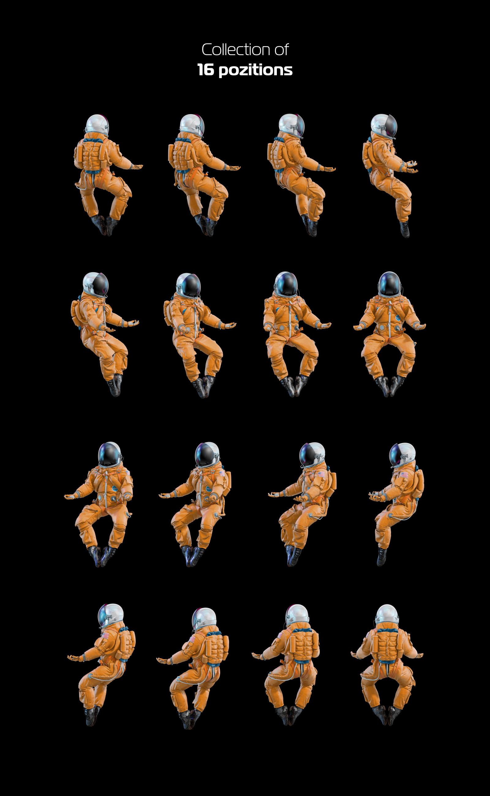 PSD Mockup 3D model NASA Astronaut #43