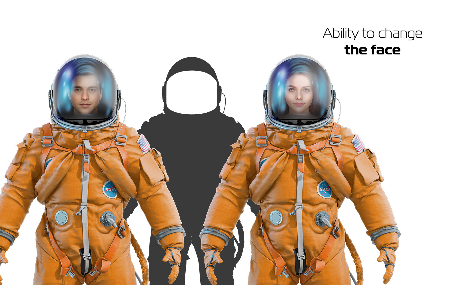 PSD Mockup 3D model NASA Astronaut #44
