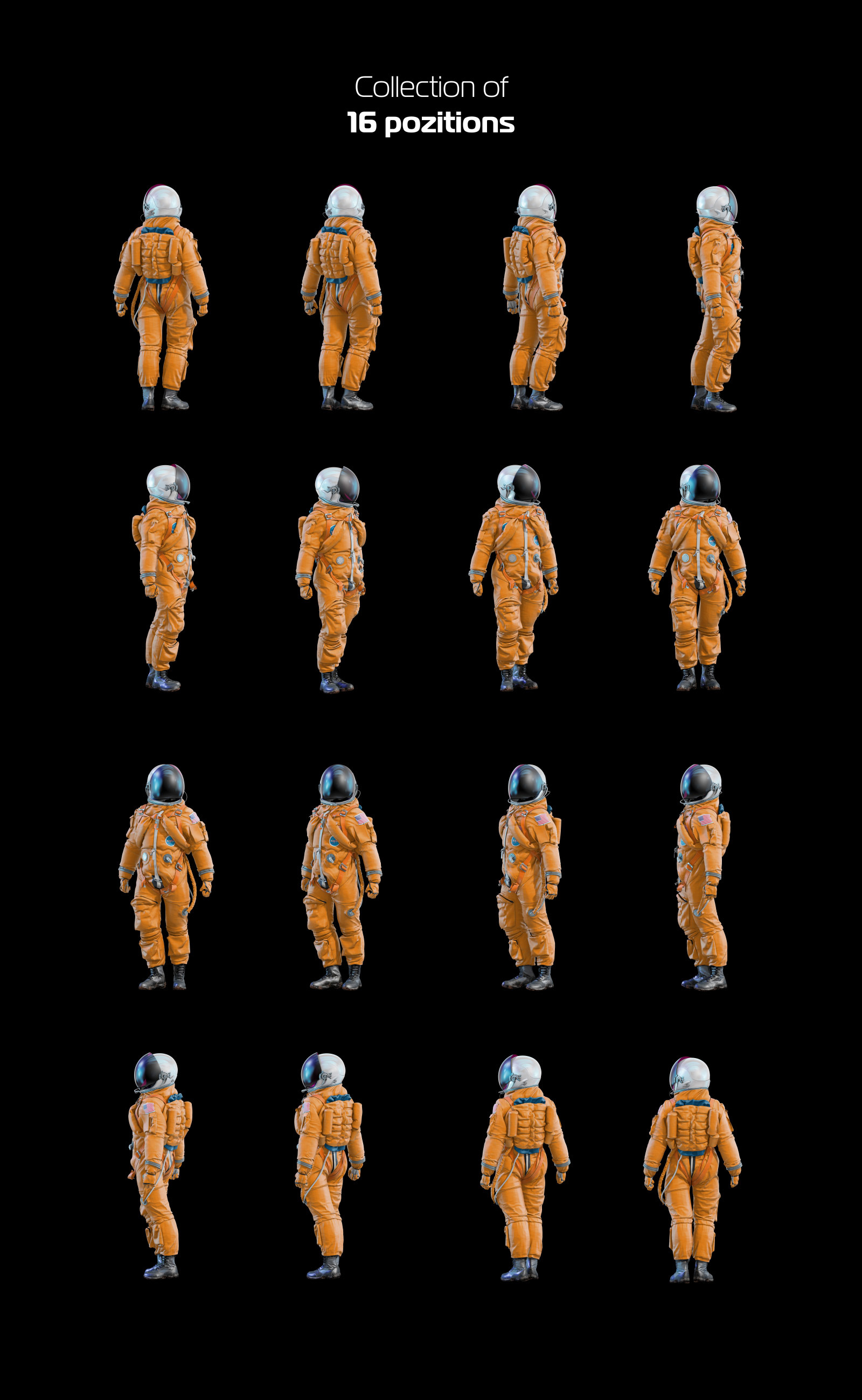 PSD Mockup 3D model NASA Astronaut #45