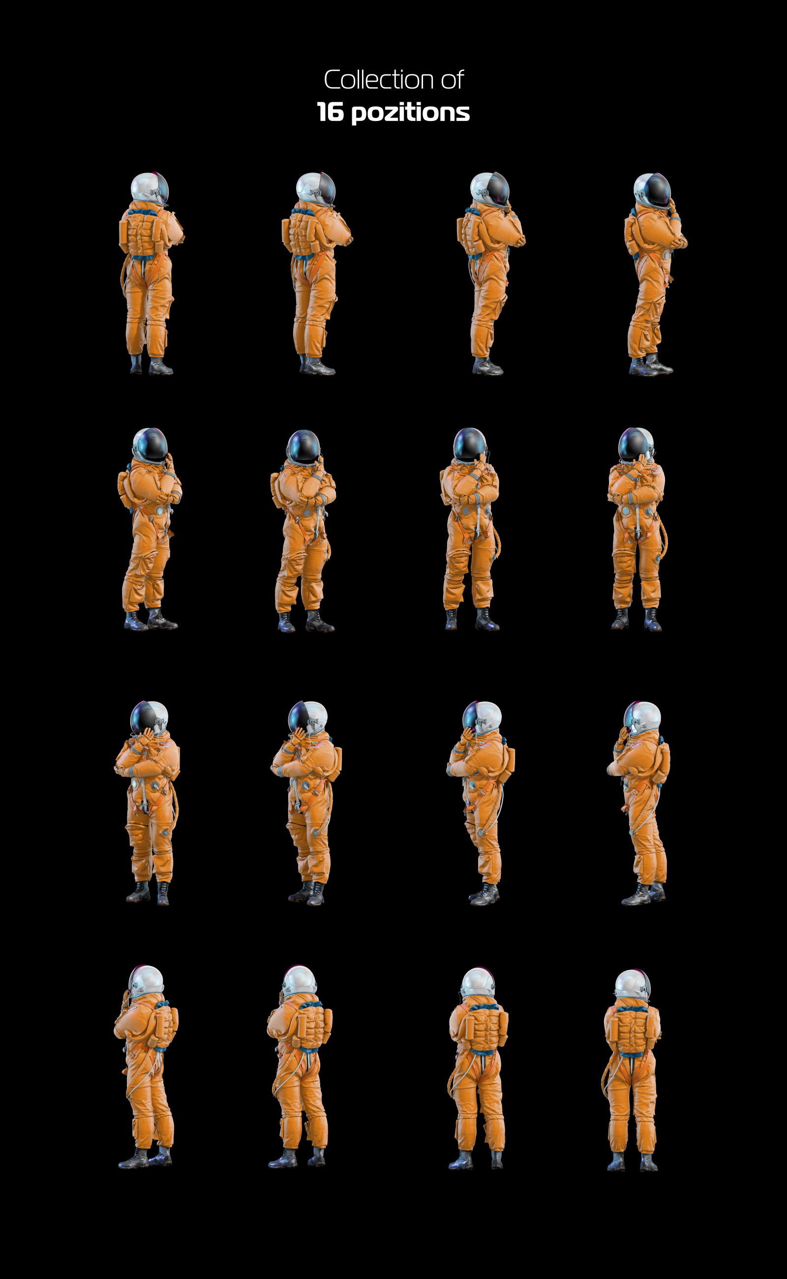 PSD Mockup 3D model NASA Astronaut #46
