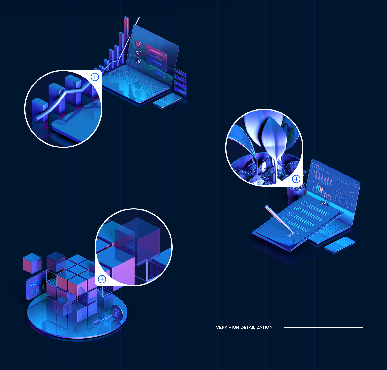 3D Business icons collection #01