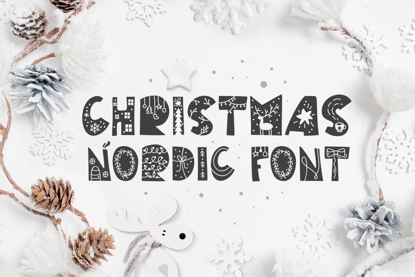 Christmas Nordic Font