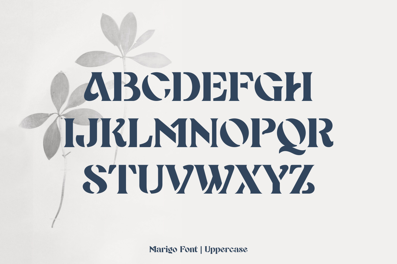 Marigo - Stencil Display Font