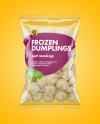 Plastic Bag With Dumplings Mockup