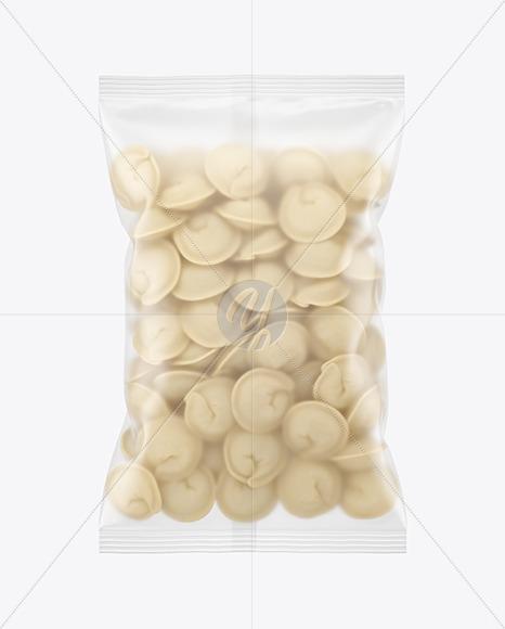 Matte Plastic Bag With Dumplings Mockup