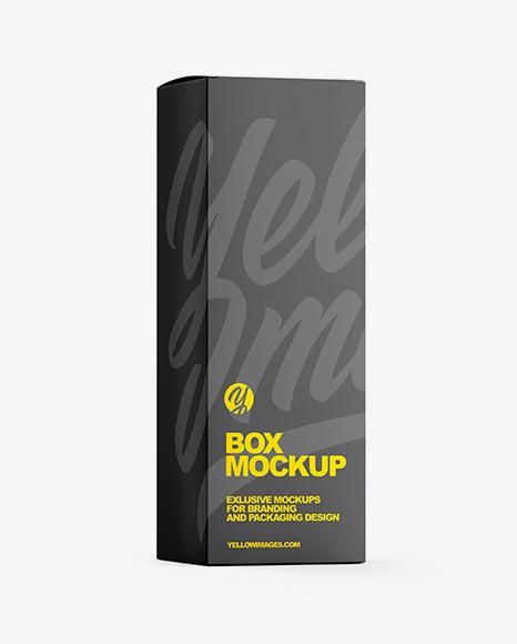 Paper Box W/ Glossy Tube Mockup