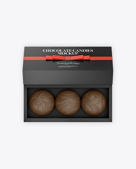Gift Box with Chocolates Mockup