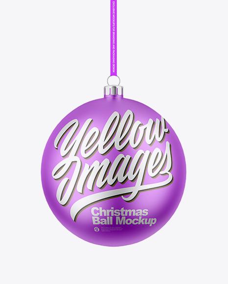 Matte Metallic Christmas Ball Mockup