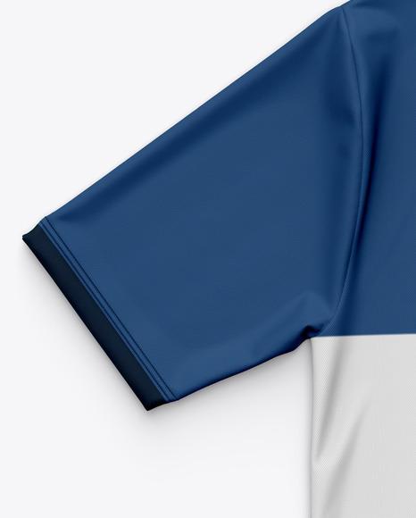 Men's Flat V-Neck T-Shirt Mockup - Back View