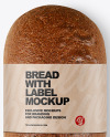Loaf Of Rye Bread with Label Mockup