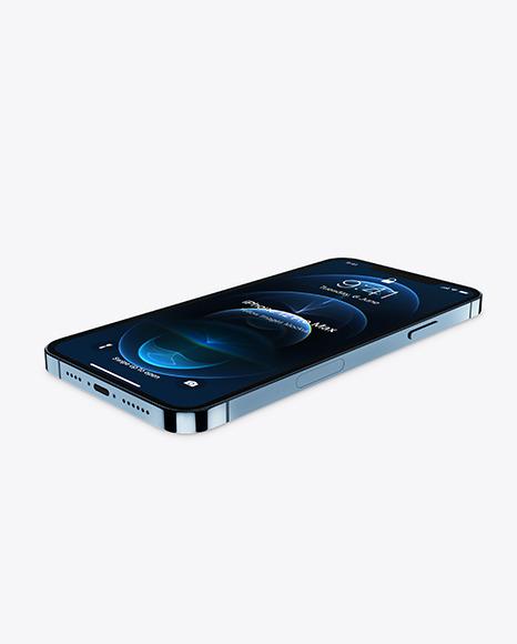 Apple iPhone 12 Pro Max Pacific Blue Mockup