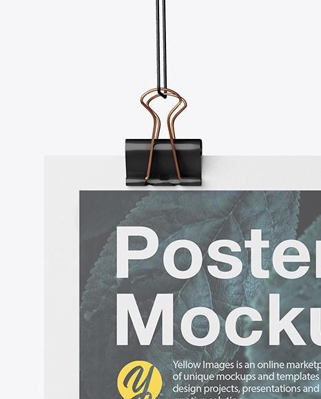 A4 Matte Poster Mockup