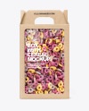 Kraft Box w/ Loop Cereal Mockup
