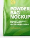 Glossy Powder Bag Mockup