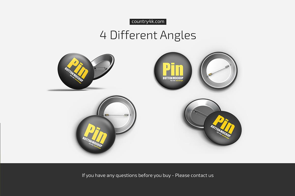 Pin Button Mockup Set