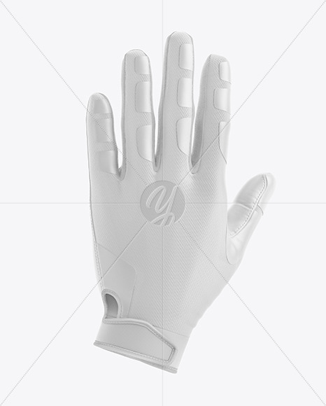 Football Glove Mockup - Back View