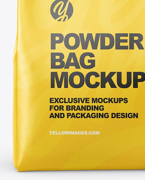 Matte Powder Bag Mockup