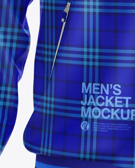 Men's Zipped Bomber Jacket Mockup